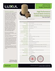 High Performance Tactical Mesh Antenna 5.XGHz Omni ... - Luxul