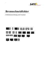 Brennschneidfehler - Sato