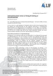 Läkemedelsverkets remiss av förslag till ändring av ... - LIF