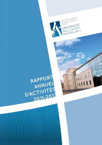 RappoRt annuel d'activités 2011-2012 - Université Paul Valéry