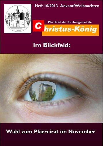 Pfarrbrief Advent 2013 - Katholische Pfarrgemeinde Christus-König ...