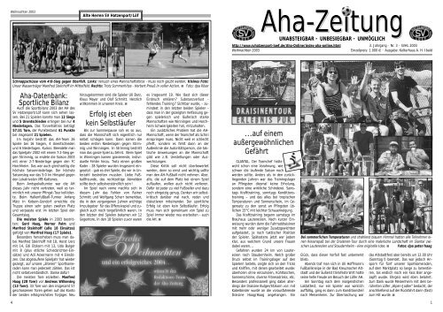 Aha-Zeitung 2003 - beim SV Hatzenport Löf