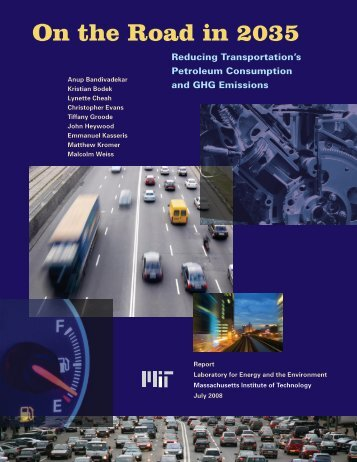 On the Road in 2035 - MIT Energy Initiative