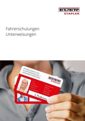 Stapler Fahrschule - Staplerführerschein - Staplerschein bei EDER STAPLER