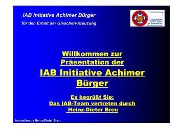 IAB Initiative Achimer Bürger für den Erhalt der Gieschen-Kreuzung