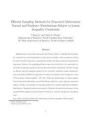 Efficient Sampling Methods for Truncated Multivariate Normal and ...