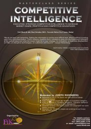 competitive intelligence - Rodenberg Tillman & Associates