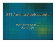 STI Among Adolescents - UCSF Fresno