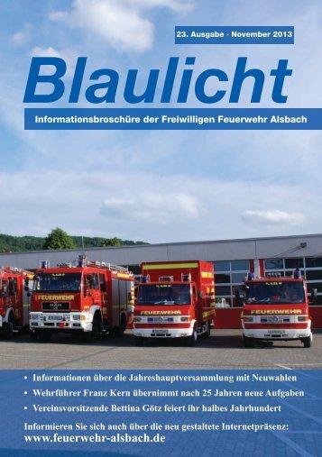 November 2013 - Freiwillige Feuerwehr Alsbach