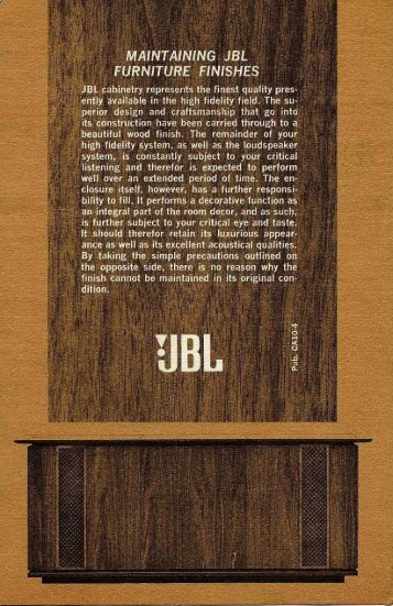 Maintaining JBL Furniture Finishes (1969).pdf