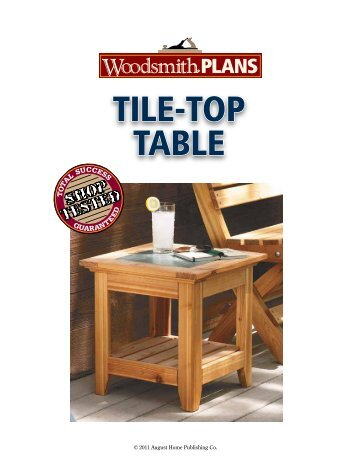 Woodsmith End Table Plans - Woodworking Projects & Ideas