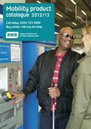 Mobility Product Catalogue - RNIB