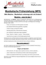 Musikalische Früherziehung (MFE) - Musikschule Weißenhorn