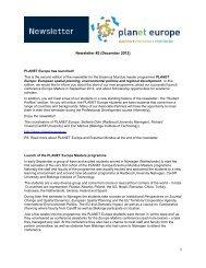 1 Newsletter #2 (December 2012) - PLANET Europe