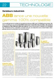 FT155_Variateurs indutriels, ABB lance une nouvelle gamme 100 ...