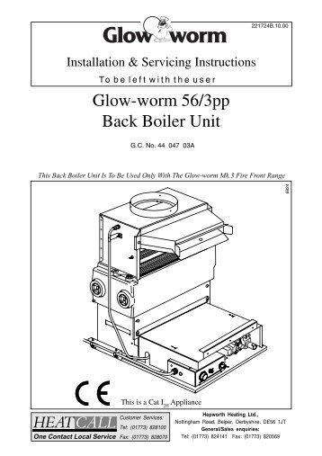 glow-worm 56  3e back boiler unit
