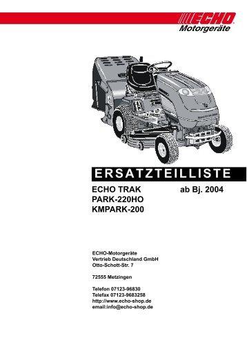 Ersatzteilliste PARK 220HO Baujahr 2004 - Gartentechnik-Bremen