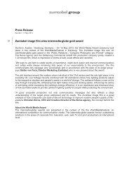 Press release (pdf, 78.52KB) - Zumtobel Group
