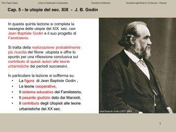 utopisti: J.B. Godin - Università Gabriele d'Annunzio