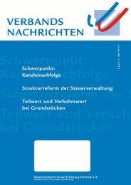 Ausgabe 1/2013 - Steuerberaterverband Schleswig-Holstein