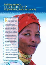 UNIFEM 1325 Annual Report 2001 Part 2 [PDF, 2MB] - PeaceWomen