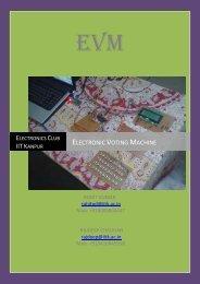 Electronic Voting Machine - Students' Gymkhana