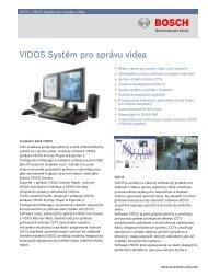 VIDOS Systém pro správu videa - Bosch