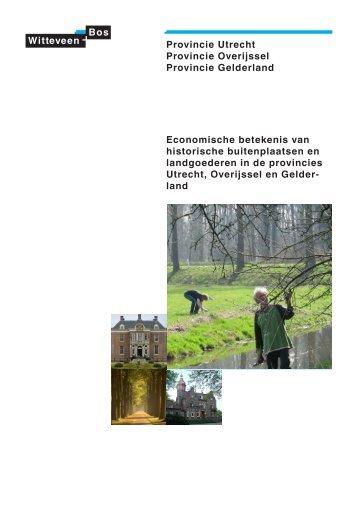 Rapport Economische betekenis van historische buitenplaatsen en ...