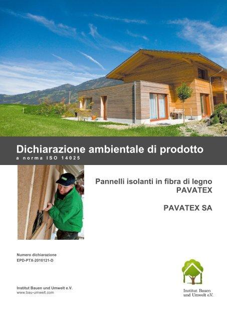 Dichiarazione ambientale di prodotto - Naturalia Bau