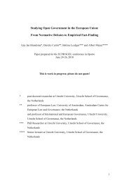 Studying Open Government in the European Union: From Normative ...
