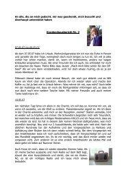 Krankenhausbericht Nr. 2 - Von Anja Hörenz