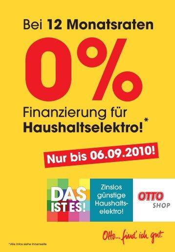 Bei 12 Monatsraten Finanzierung für Haushaltselektro! * 6475 - Otto