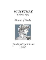 Sculpture - Findlay City Schools
