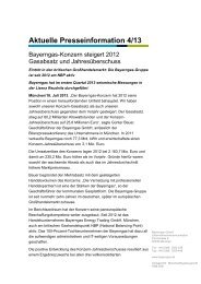 Aktuelle Presseinformation 4/13 - Bayerngas GmbH