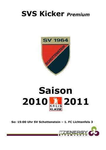KICKER vom 20.03.2011 Spiel gegen 1.FC ... - SV Schottenstein