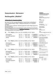 Bauplätze für Doppelhaushälften - Stadt Kaiserslautern