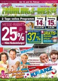 Möbel Kranz GmbH in Uelzen: Frühlingsmesse