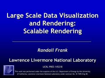 Large Scale Data Visualization and Rendering - Computation ...