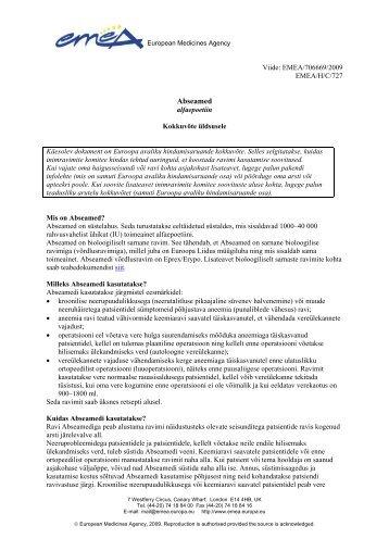 Lae EMEA kirjeldus - Arst.ee