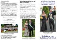 Einladung zum Schützenfest 2013 - Schützenbruderschaft St. Vitus ...