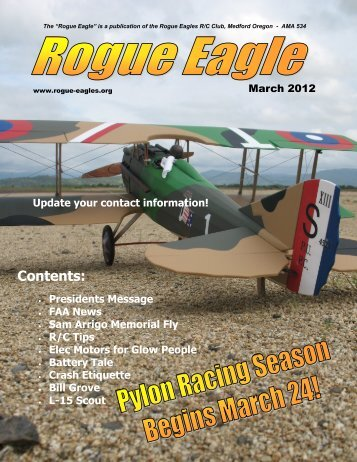March - The Rogue Eagles R/C Airplane Club