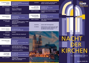 Flyer für die Nacht der Kirchen (PDF) - CiMd