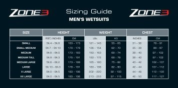 Sizing Guide - Evans Cycles
