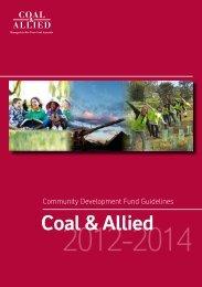 Coal & Allied Community Development Fund guidelines (PDF 1.04 ...
