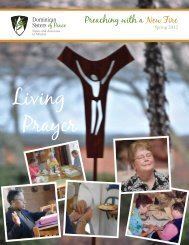 Spring 2012 - Dominican Sisters of Peace