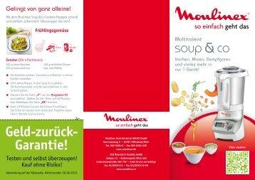 Geld-zurück- Garantie! - Moulinex