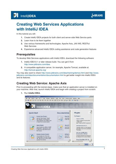 Creating Web Services Applications with IntelliJ IDEA - JetBrains