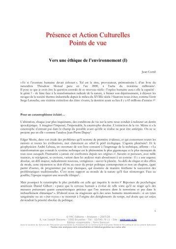 Consulter la présentation de Jean Cornil - Inter-Environnement ...