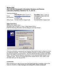 Winter 2010 GEO 465/565 Geographic Information ... - Dawn Wright