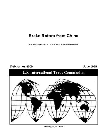 Brake Rotors from China - USITC